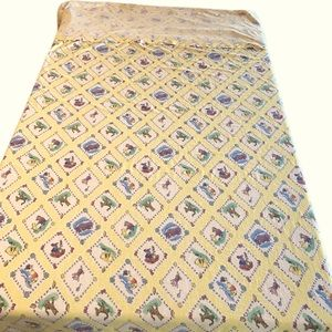 Vintage Disney Flannel Flat Sheet Pillow Case Set
